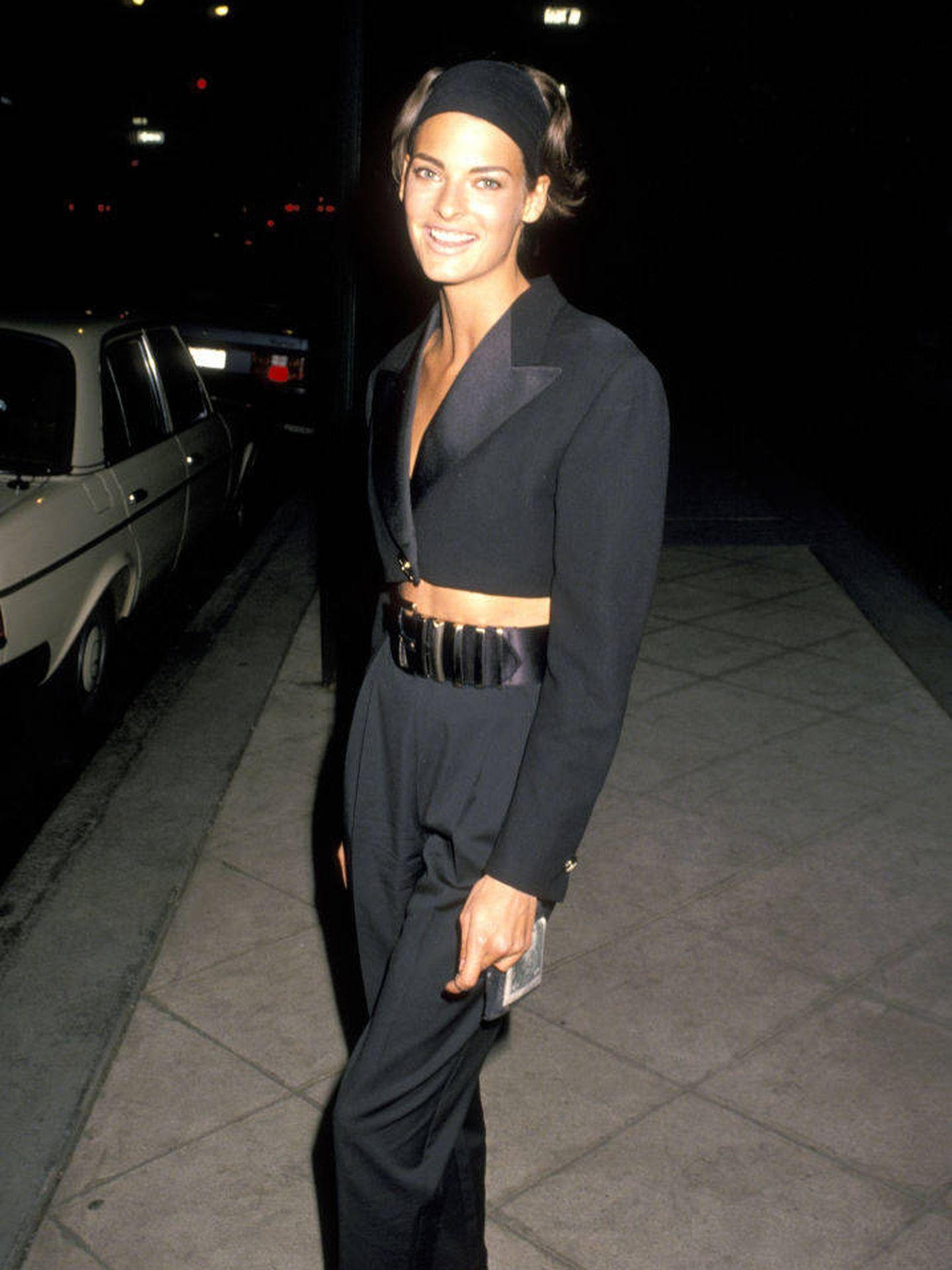 Linda Evangelista, en 1990. (Getty)