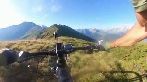 Increíble carrera de 'e-bikes' en pleno Mont Blanc