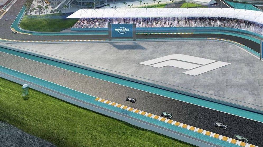 Foto: El futuro circuito de Miami se construirá en torno al estado de los Miami Dolphins.