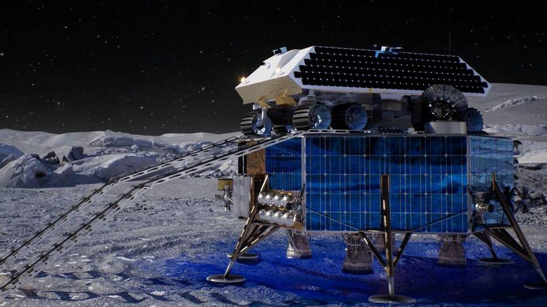 El Rocket M aterrizará en la luna sobre un 'lander' (Masten Space Systems)