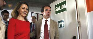 Cospedal defiende los partidos ante un Aznar que guardó silencio en FAES