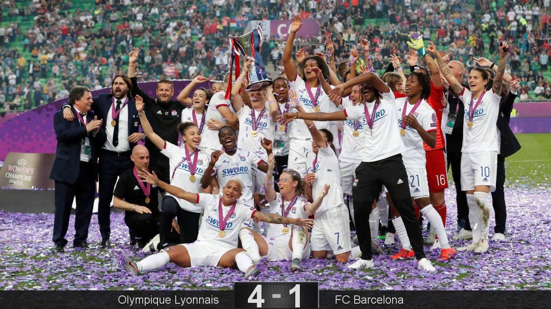 Foto: Es la cuarta Champions seguida que gana el Olympique. (Reuters)