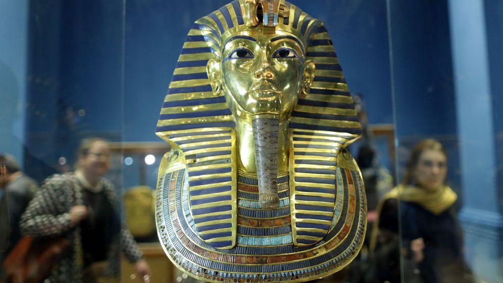 Foto: La Máscara Dorada del Rey Tutankamón, en el Museo Egipcio de El Cairo. (EFE)