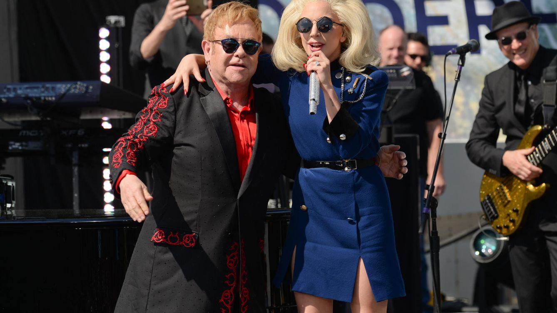 Foto: Lady Gaga y Elton John en una imagen de archivo (Gtres)