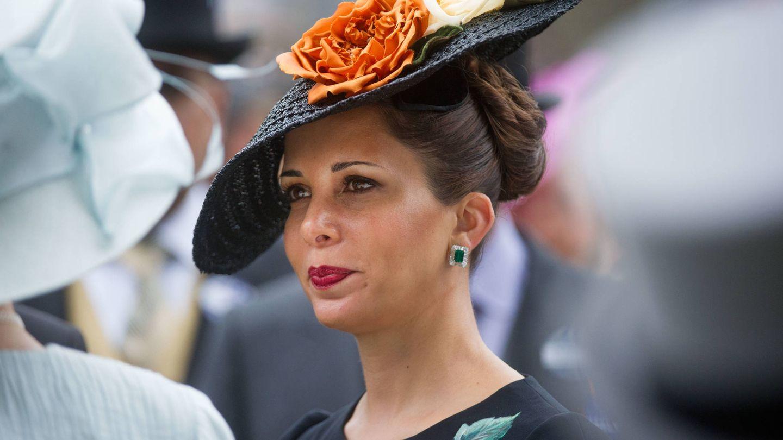 La princesa Haya de Jordania, en las carreras de Ascot. (Getty)