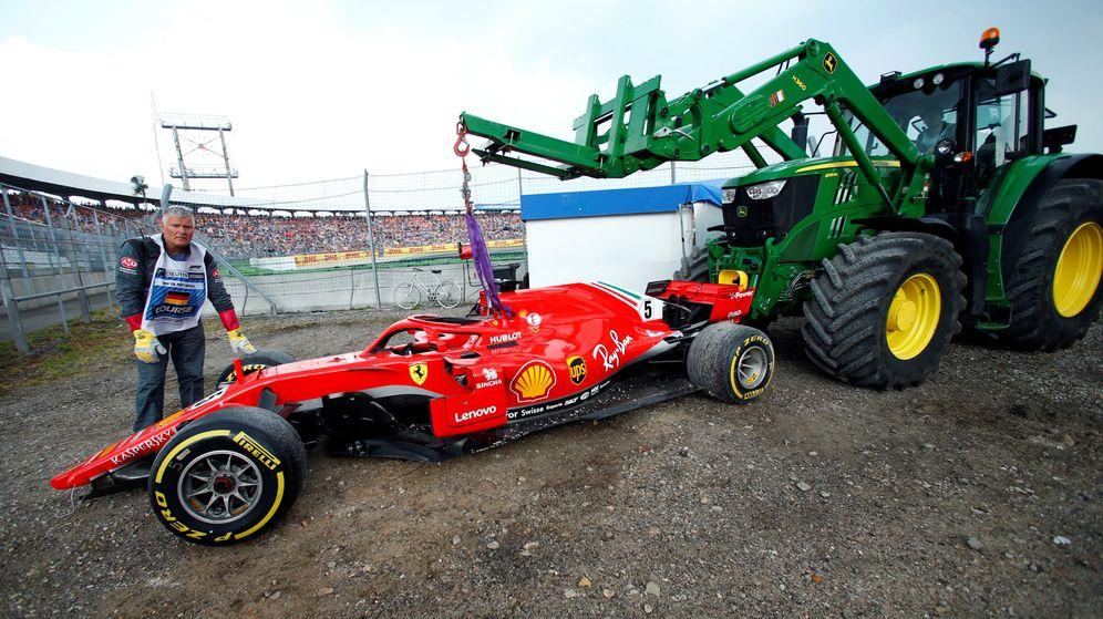 Foto: El Ferrari de Vettel en el GP de Alemania de 2018. (Reuters)
