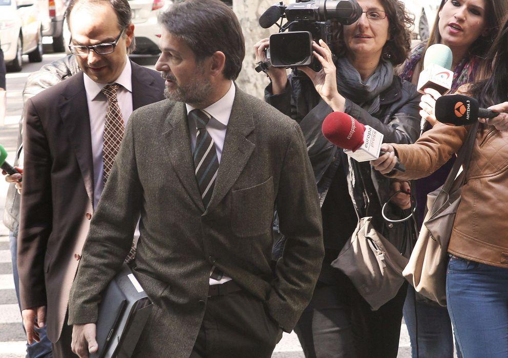 Foto: Oriol Pujol a su llegada al Tribunal Superior de Justicia de Cataluña. (EFE)
