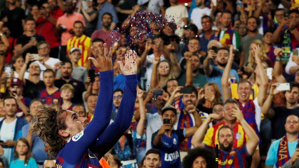 Foto: Griezmann celebrando su segundo go. (Reuters)