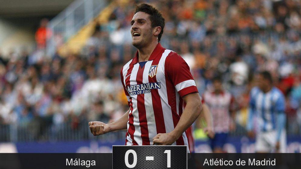 Un contraataque saca de las dudas al Atlético más gris en Málaga