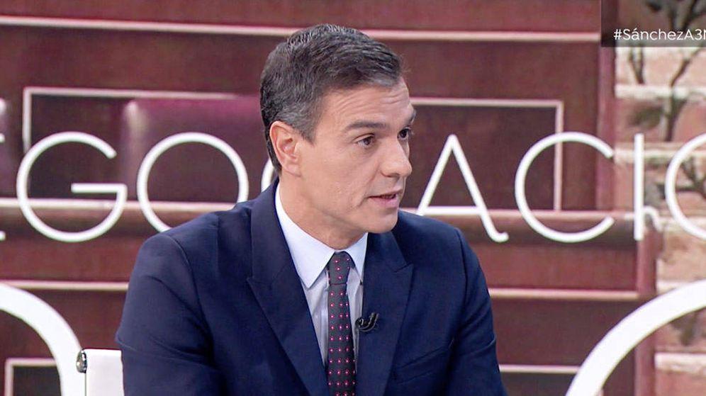 Foto: Pedro Sánchez, este 7 de octubre durante la entrevista en 'Antena 3 Noticias 2'. (EC)