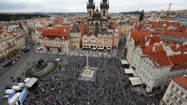 Praga, durante una protesta contra el primer ministro Babis. (Reuters)