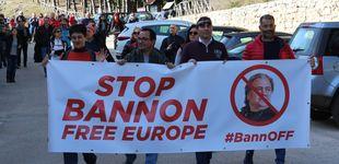 Post de Dentro de la protesta contra la escuela-monasterio de Steve Bannon en Italia