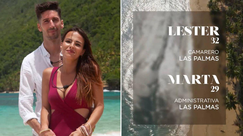 Ficha de Lester y Marta. (Mediaset)
