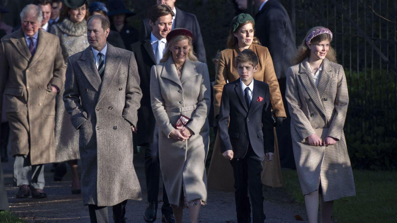 Eduardo y Sophie, con sus hijos el pasado diciembre en Sandringham. (EFE)