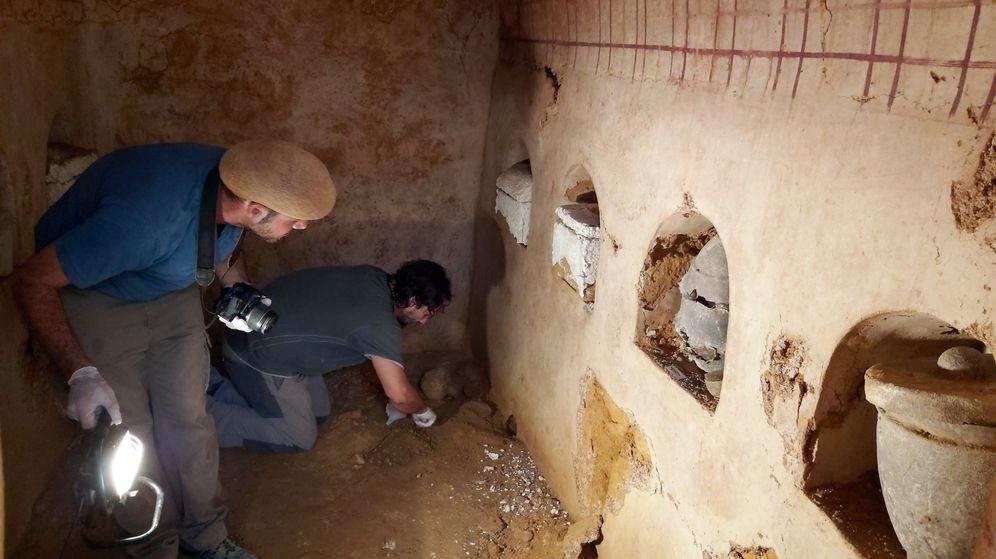 Foto: Cámara funeraria de la época romana hallada en Carmona. (Ayuntamiento de Carmona)