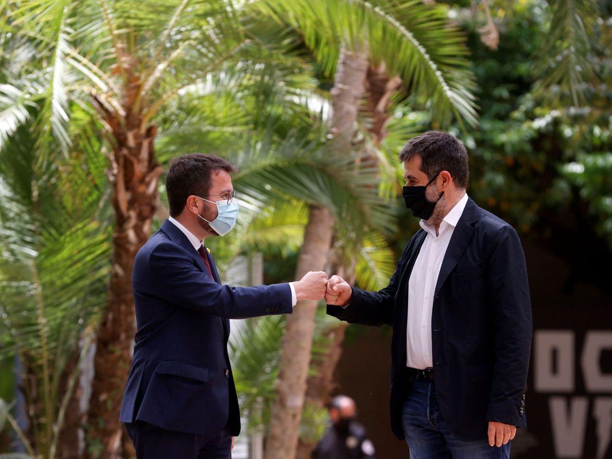 Foto: Pere Aragonès y Jordi Sànchez. (EFE)