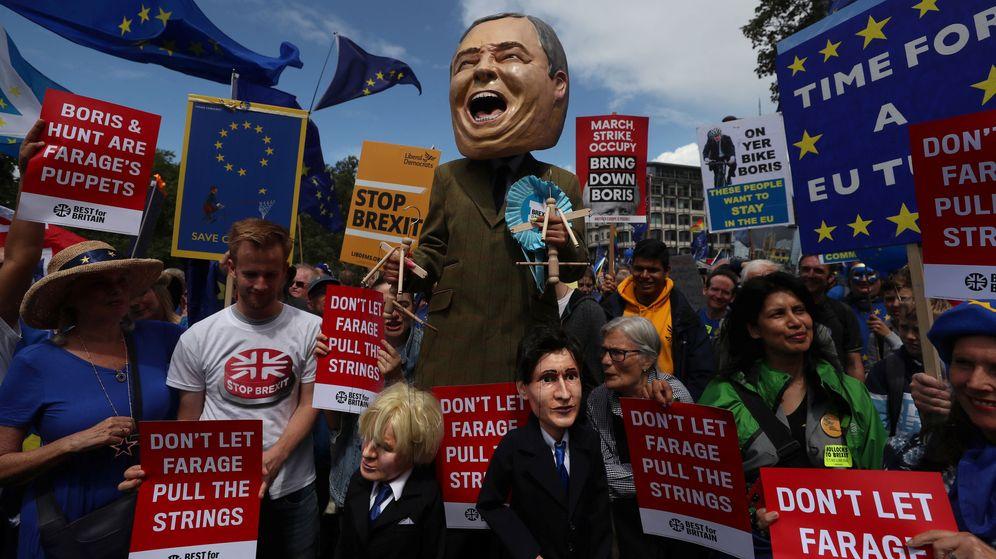 Foto: Una campaña anti Brexit el pasado 20 de julio en Londres. (Reuters)