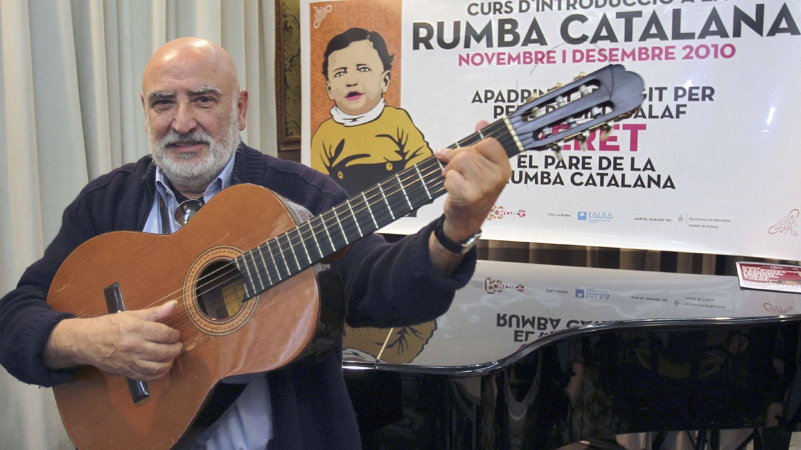 Foto: El padre de la rumba, Pere Pubill Calaf, 'Peret', en 2010. (Efe)