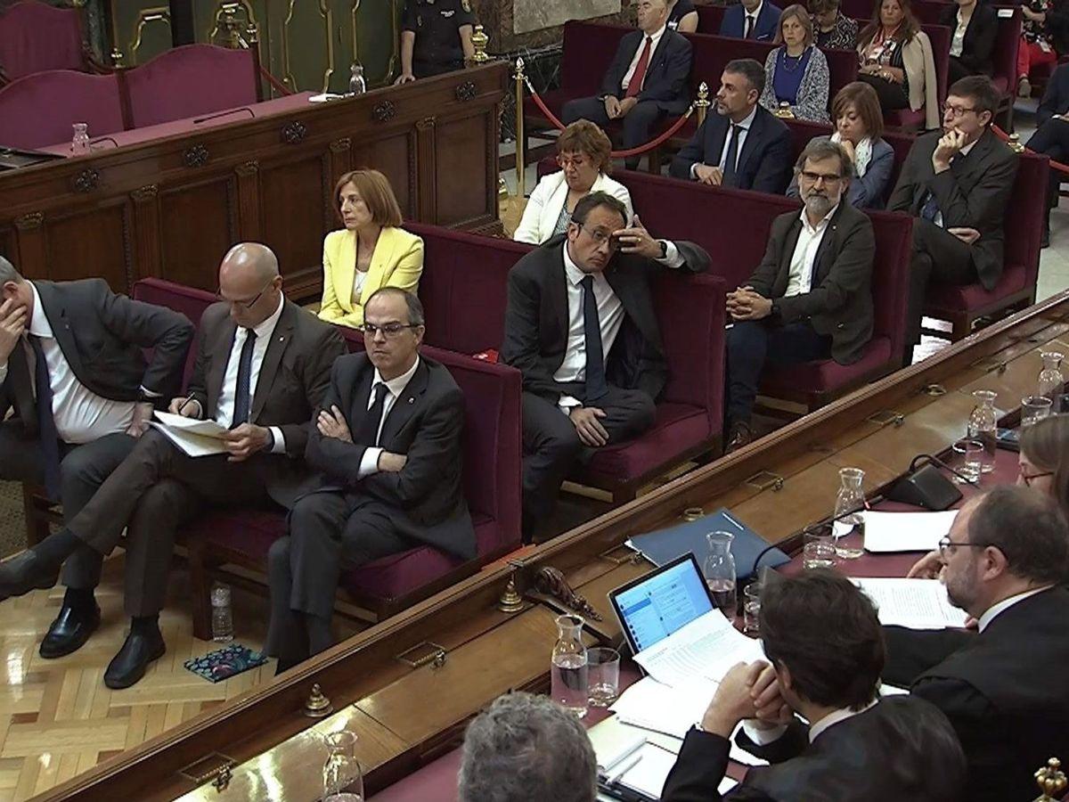 Foto: Imagen tomada de la señal institucional del Tribunal Supremo durante la 52ª y última sesión del juicio del 'procés'. (EFE)