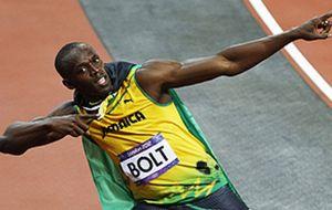 Bolt gana los 100 metros