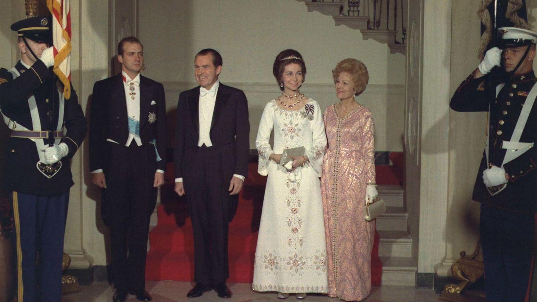 Foto: Los reyes eméritos de España durante su visita al matrimonio Nixon en Estados Unidos (Cordon Press)
