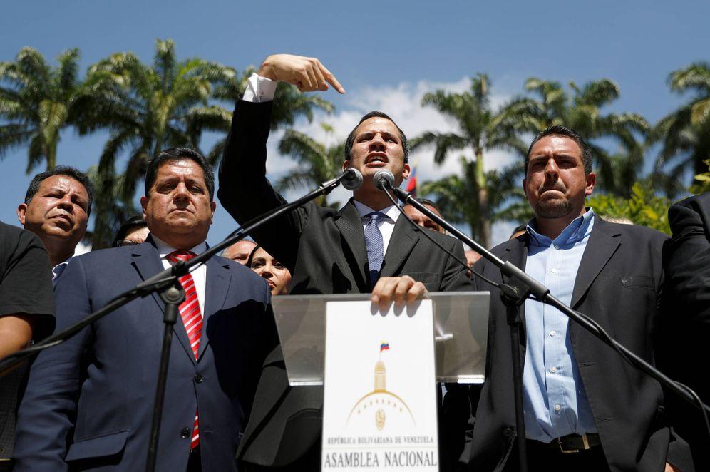 Foto: Juan Guaidó, presidente de la Asamblea Nacional, durante una rueda de prensa en Caracas. (Reuters)