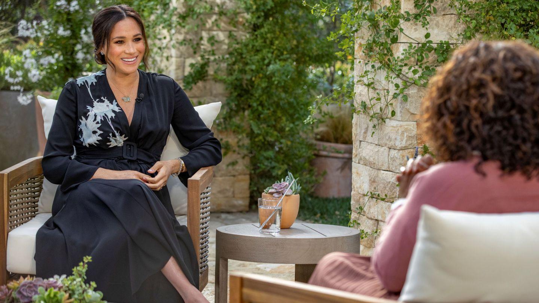 Meghan Markle durante la entrevista concedida a Oprah Winfrey. (Reuters)