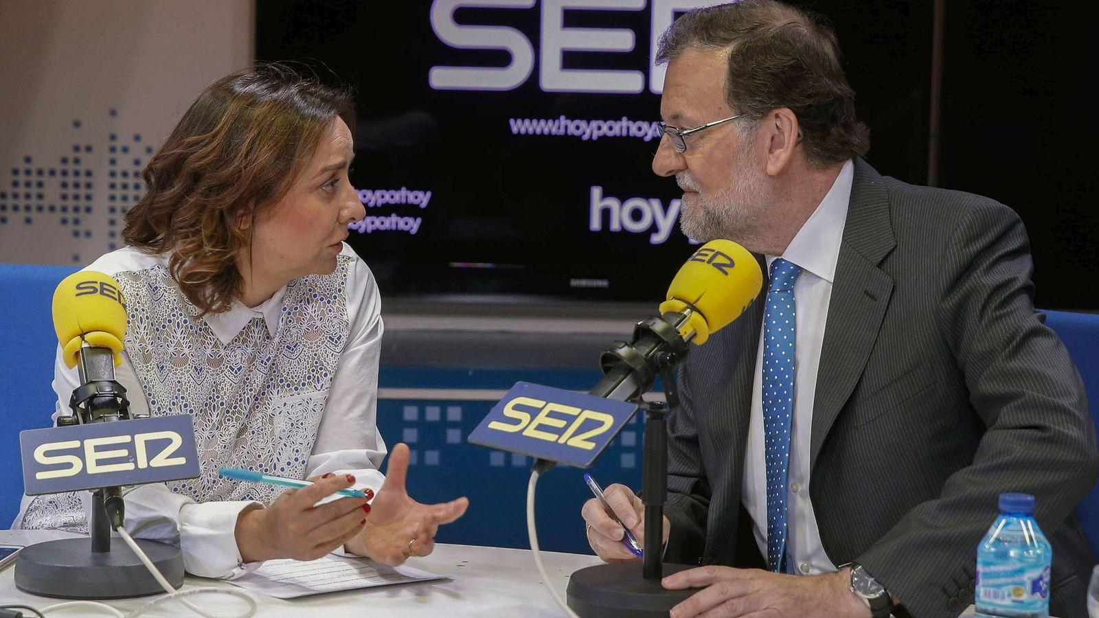 Foto: Mariano Rajoy, presidente del Gobierno, durante una entrevista en la Cadena SER. (EFE)