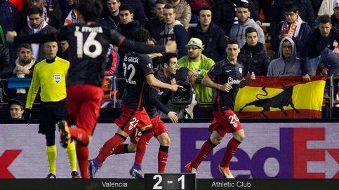 Un estacazo de Aduriz hunde el esfuerzo del Valencia y pone al Athletic en cuartos
