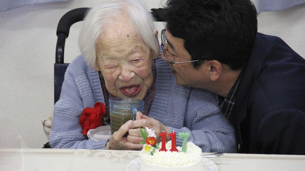 Foto: Misao Okawa sopló las velas de su tarta el pasado 5 de marzo. (Efe)