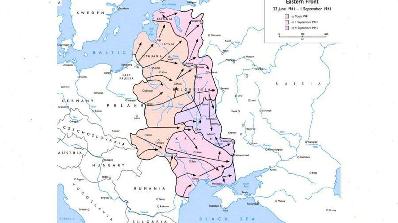 Mapa del frente bélico en 1941