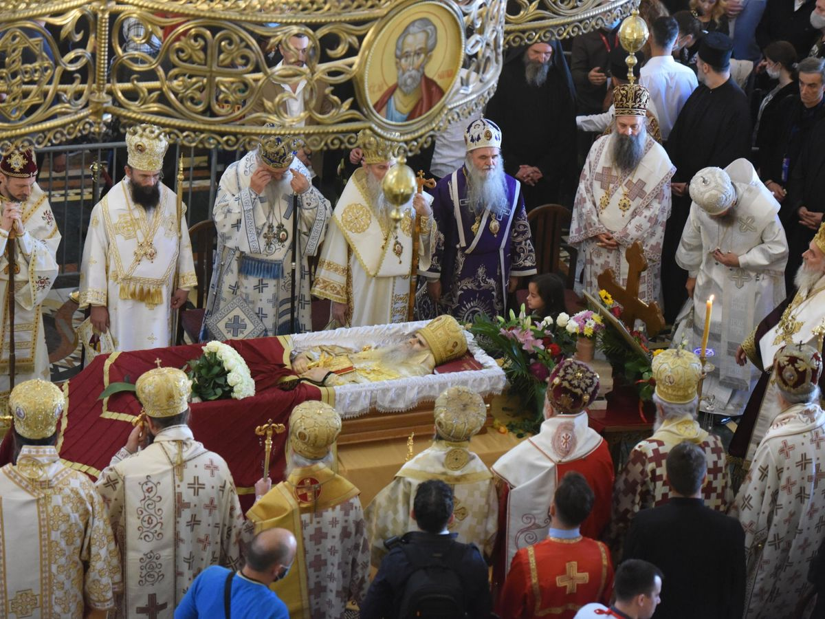 Foto: Funeral del arzobispo serbio Amfilohije. (Reuters)