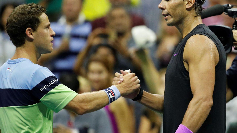 Rafael Nadal y Diego Schwartzman. (EFE)