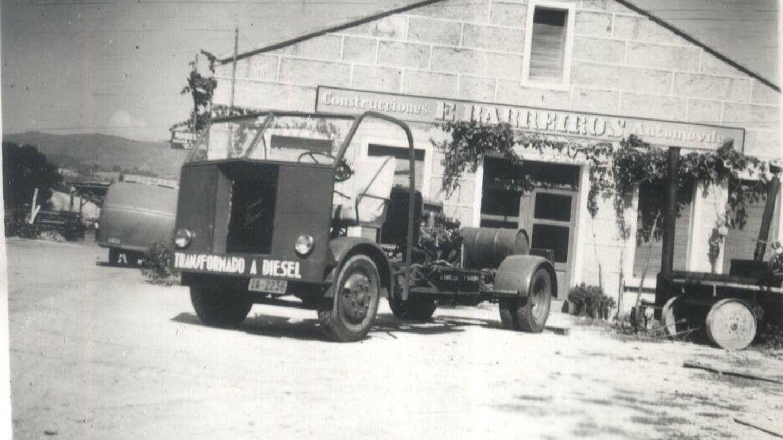 Camión con motor gasolina transformado a diésel en Construcciones E. Barreiros Automóviles. (Fundación Eduardo Barreiros)
