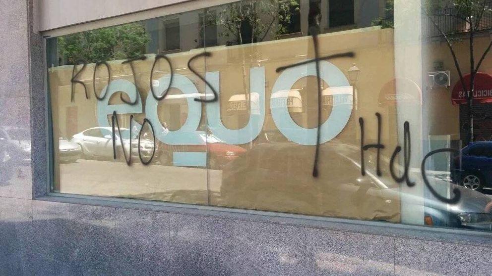 Equo y el Partido Comunista de Madrid denuncian sendos ataques a sus sedes
