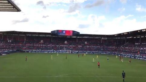 El estadio de Osasuna también grita contra la sentencia de La Manada