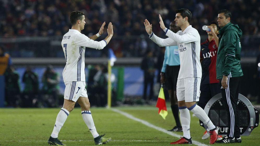 Foto: Cristiano y Morata, en un partido de esta temporada. (Reuters)