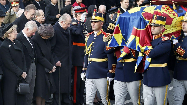 La reina Sofía, en el funeral del rey Miguel I de Rumanía. (EFE)