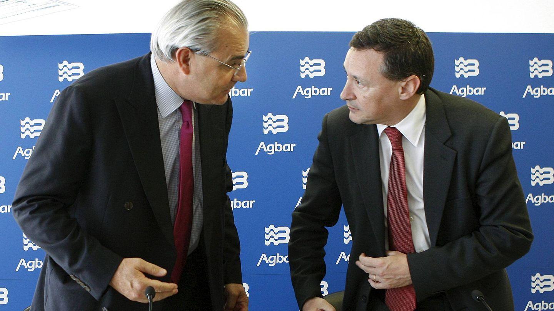 Jean-Louis Chaussade (ida.) y Ángel Simón, los responsables de Suez en España. (EFE)