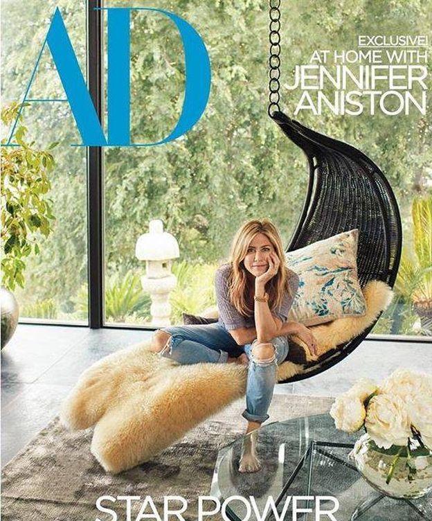 Foto: La actriz Jennifer Aniston en la portada de la revista 'AD'.