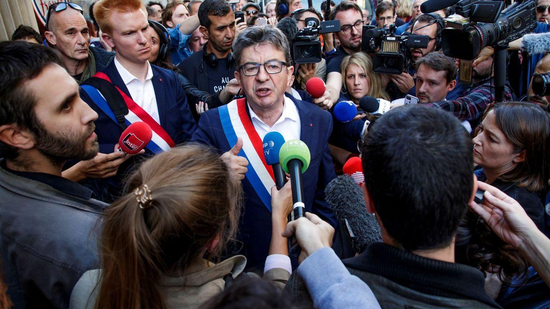 La Policía registra varias sedes de La Francia Insumisa y la casa de su dirigente