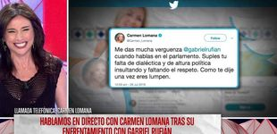 Post de Carmen Lomana habla sobre el ataque a Rufián: