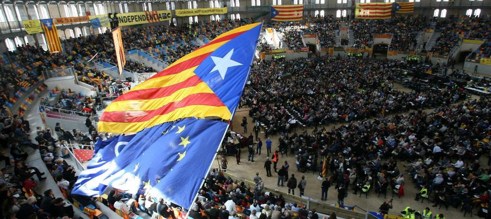 Foto: Reunión de la Asamblea Nacional Catalana (ANC) en la plaza de toros Tarraco Arena. (EFE)