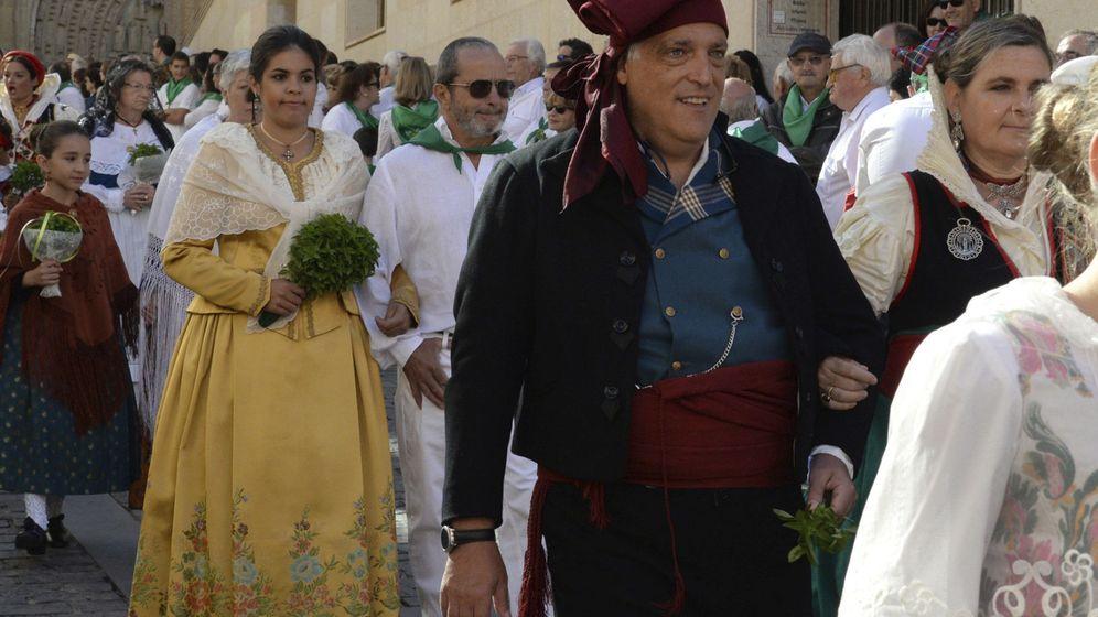 Foto: Javier Tebas, en las fiestas de Huesca. (EFE)