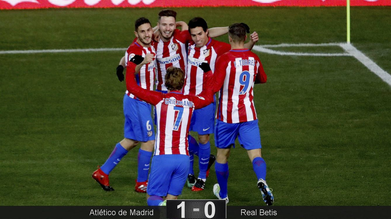 Foto: El gol de Gaitán dio los tres puntos al Atlético de Madrid (JuanJo Martín/EFE).