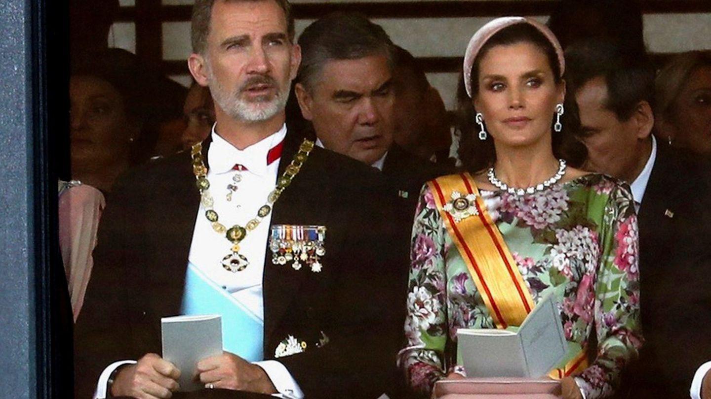 Los Reyes de España, durante su visita a Japón. (EFE)