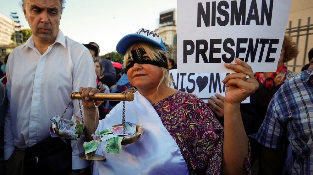 Foto: Manifestación tras la muerte de Alberto Nisman. (EFE)