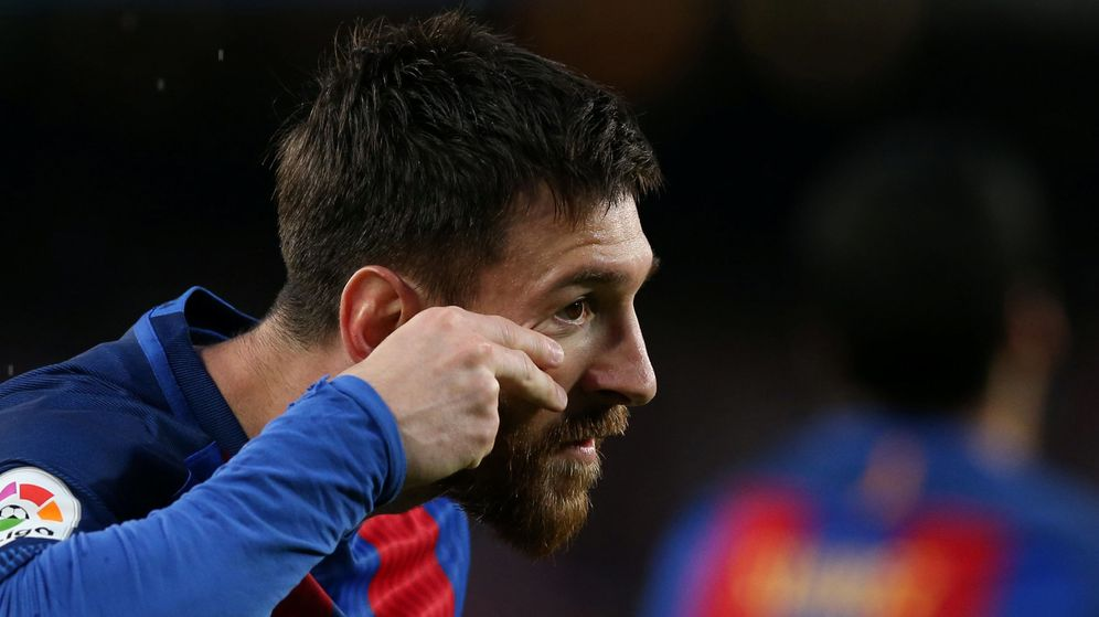 Foto: Messi, en el partido contra el Sevilla. (Reuters)