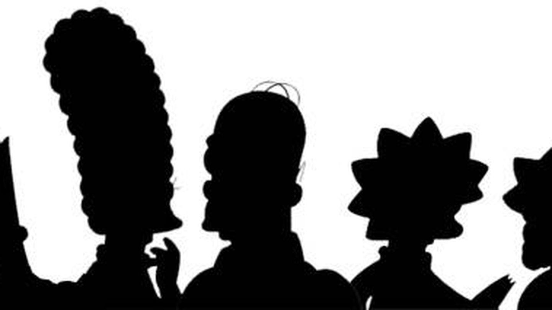 Las siluetas de la familia Simpson
