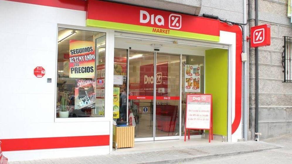 Foto: Fachada de un supermercado DIA.